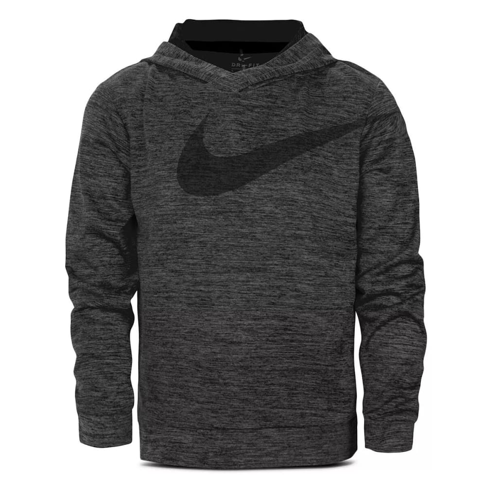 Nike Little Boys' Dri-Fit Swoosh Pullover Hoodie - Black, 6