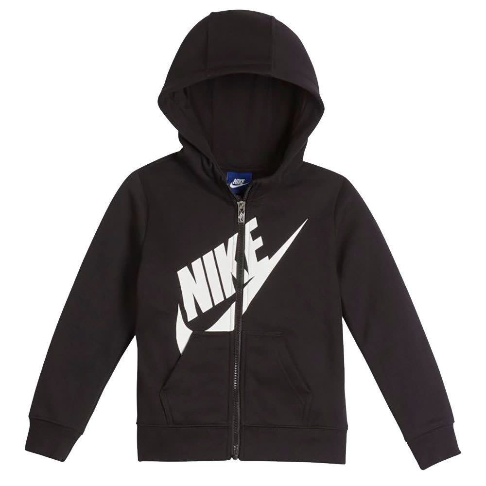 NIKE Little Boys' Futura Fleece Full-Zip Hoodie - BLACK-023
