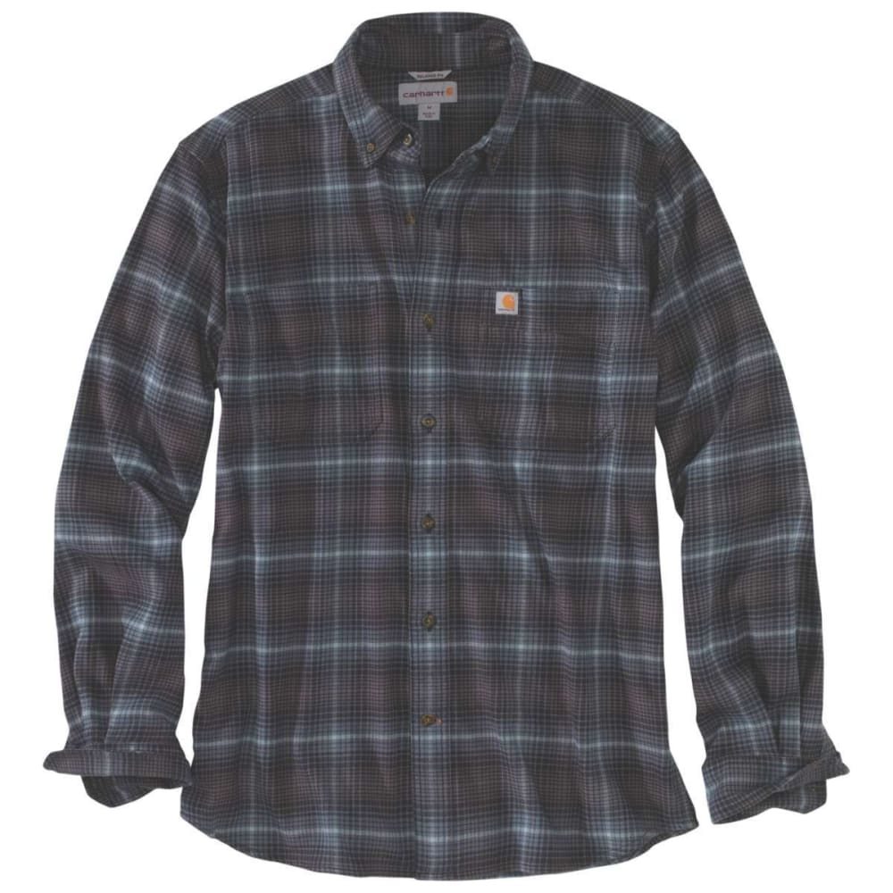 Carhartt Men's Rugged Flex Hamilton Plaid Long-Sleeve Shirt - Blue, L