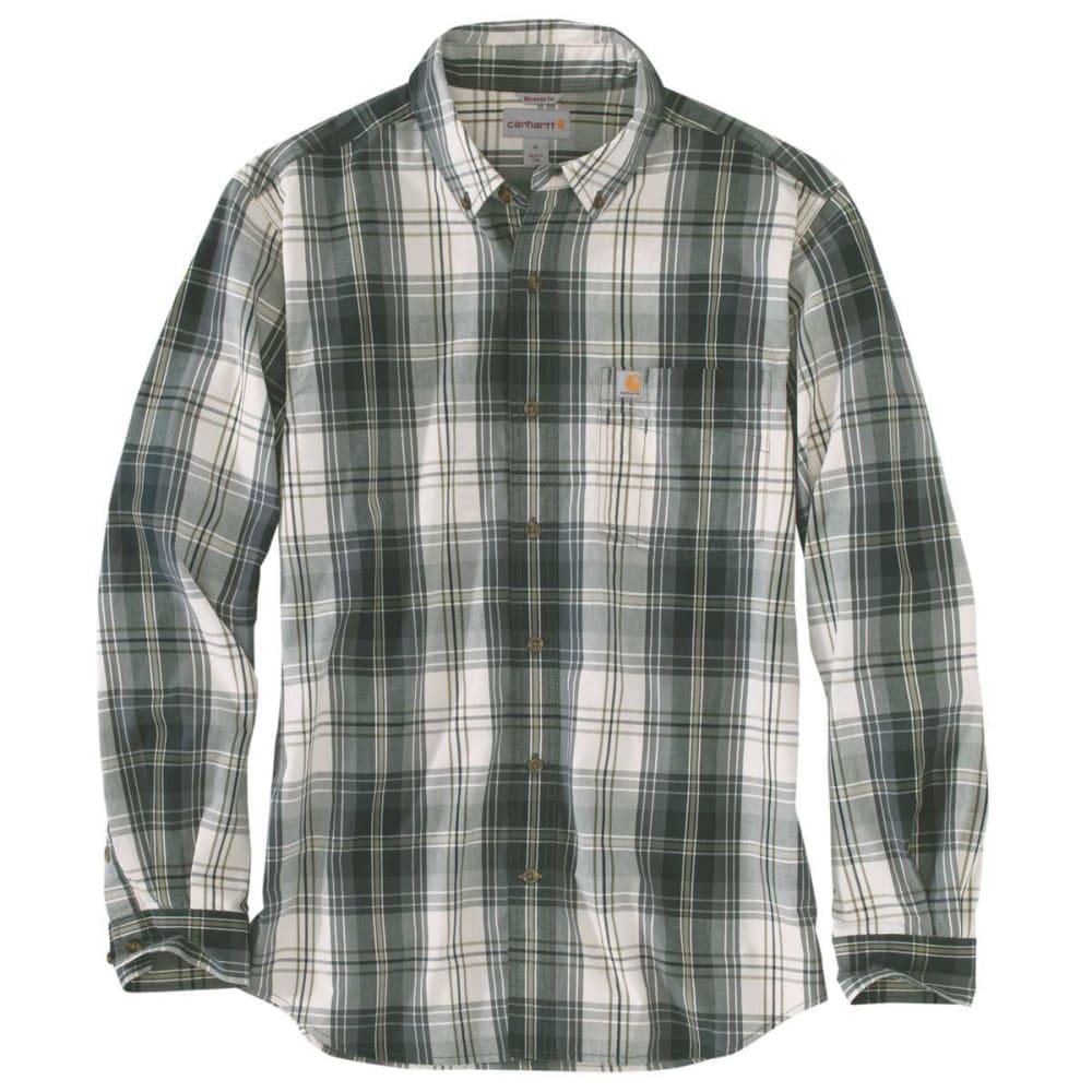 CARHARTT Men's Essential Plaid Long-Sleeve Shirt - 305 ELM