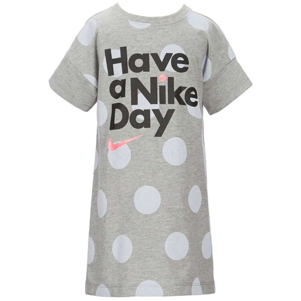 NIKE Little Girls' Have a Nike Day Short-Sleeve Dress - DARK GRY HEATHER-042
