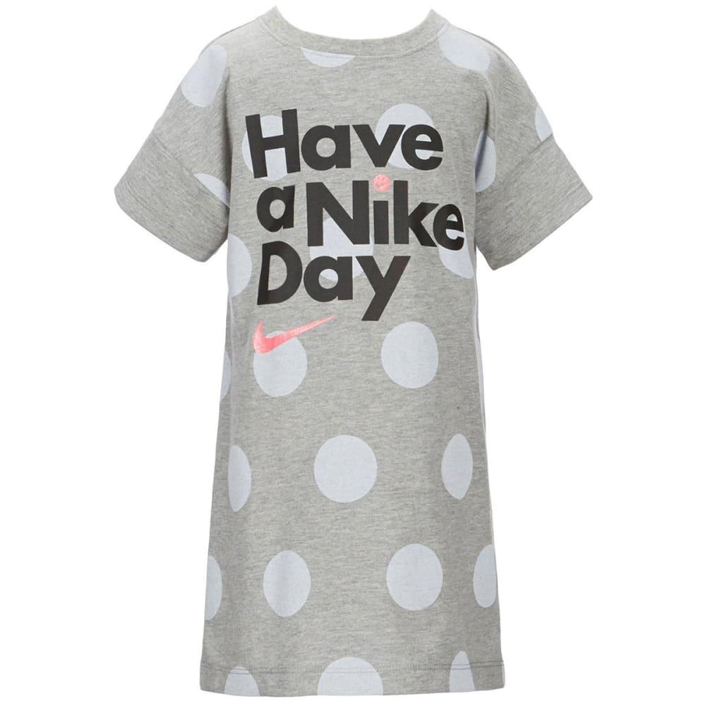 NIKE Little Girls' Have a Nike Day Short-Sleeve Dress - DARK GRY HEATHER-042