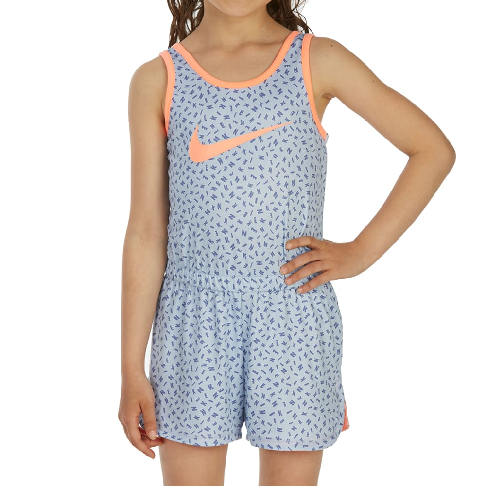 NIKE Little Girls' Essential Romper - ROYAL TINT-U8G