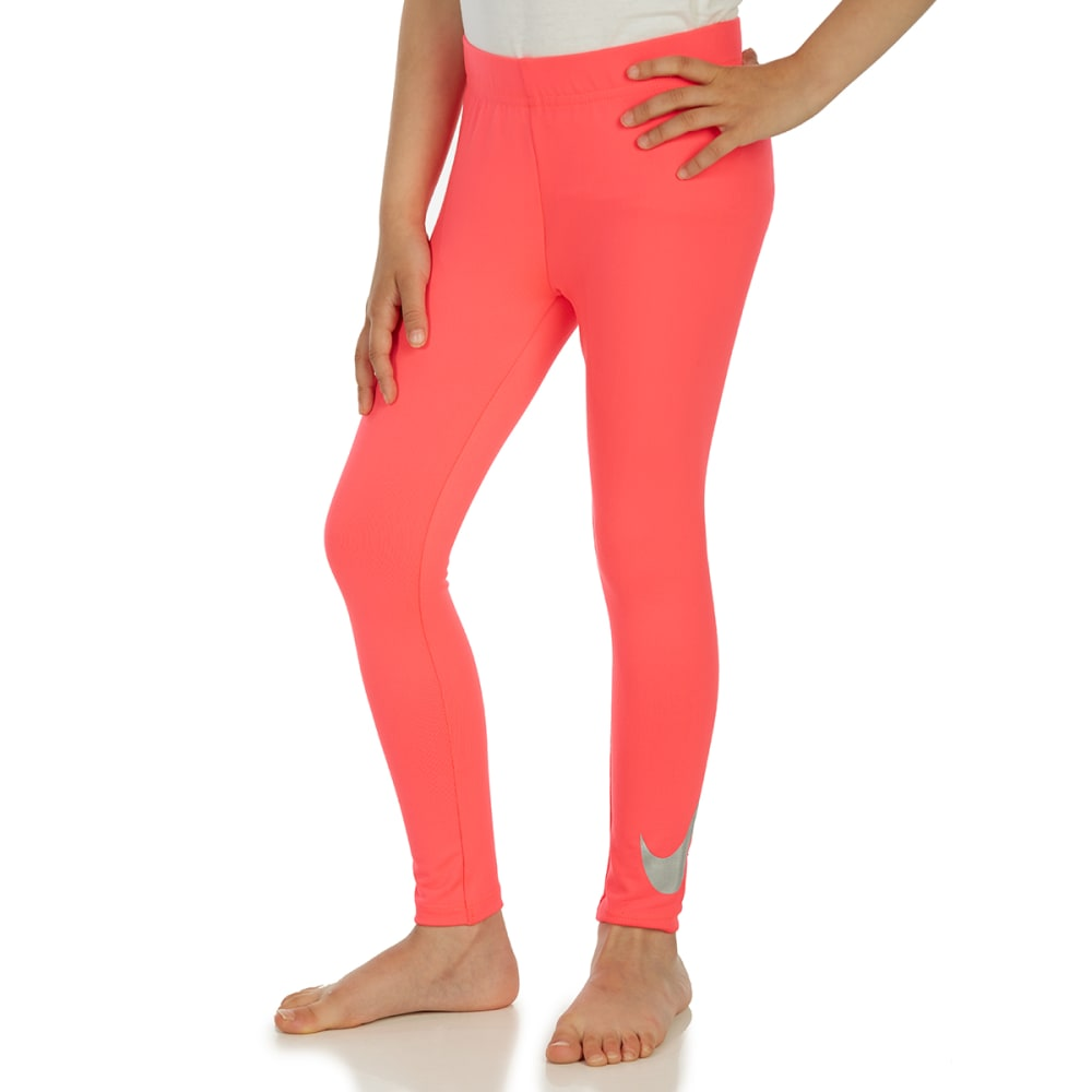 NIKE Little Girls' Essentials Metallic Leggings - RACER PINK-A4F