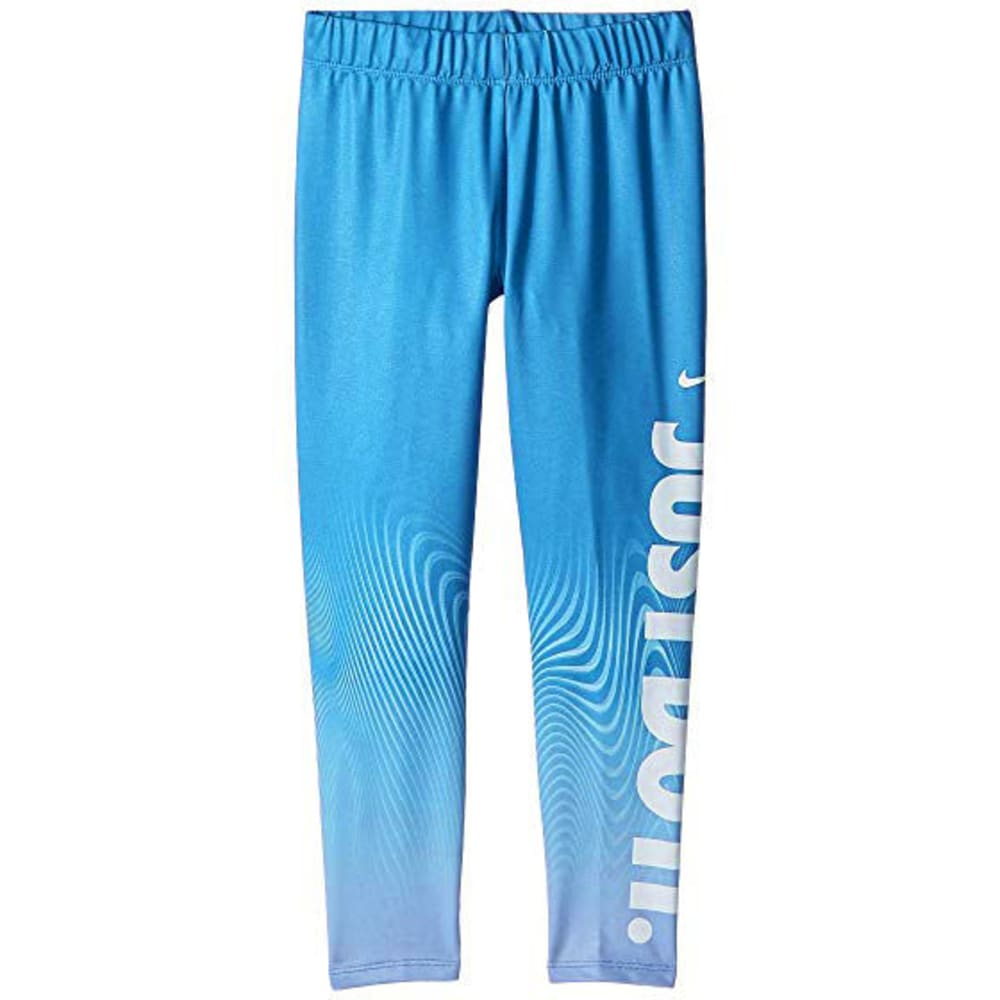 NIKE Little Girls' Essential Verbiage Leggings - SIGNAL BLUE-U9H