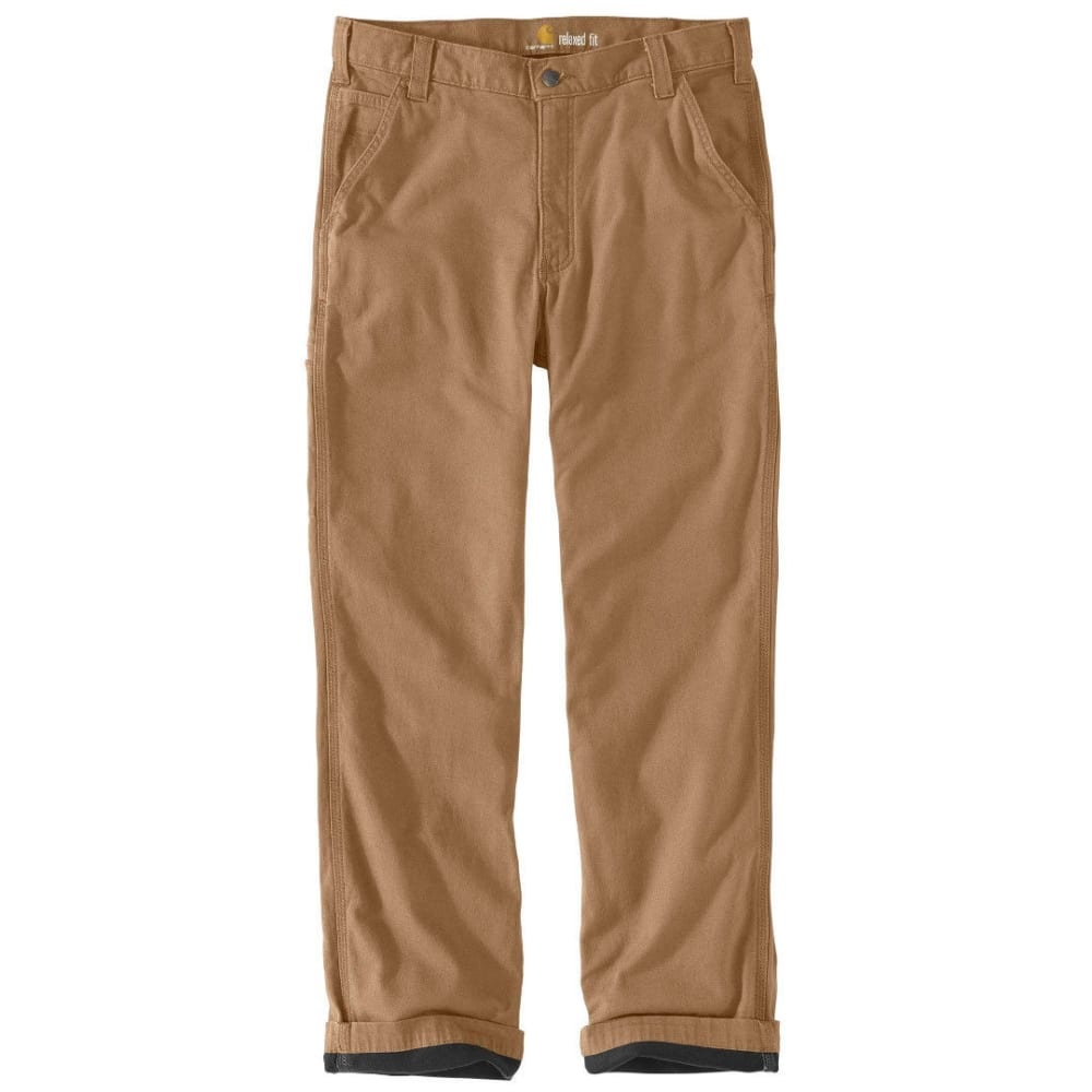 Carhartt Men's Rugged Flex Rigby Dungaree Knit Lined Pants - Brown, 32/30