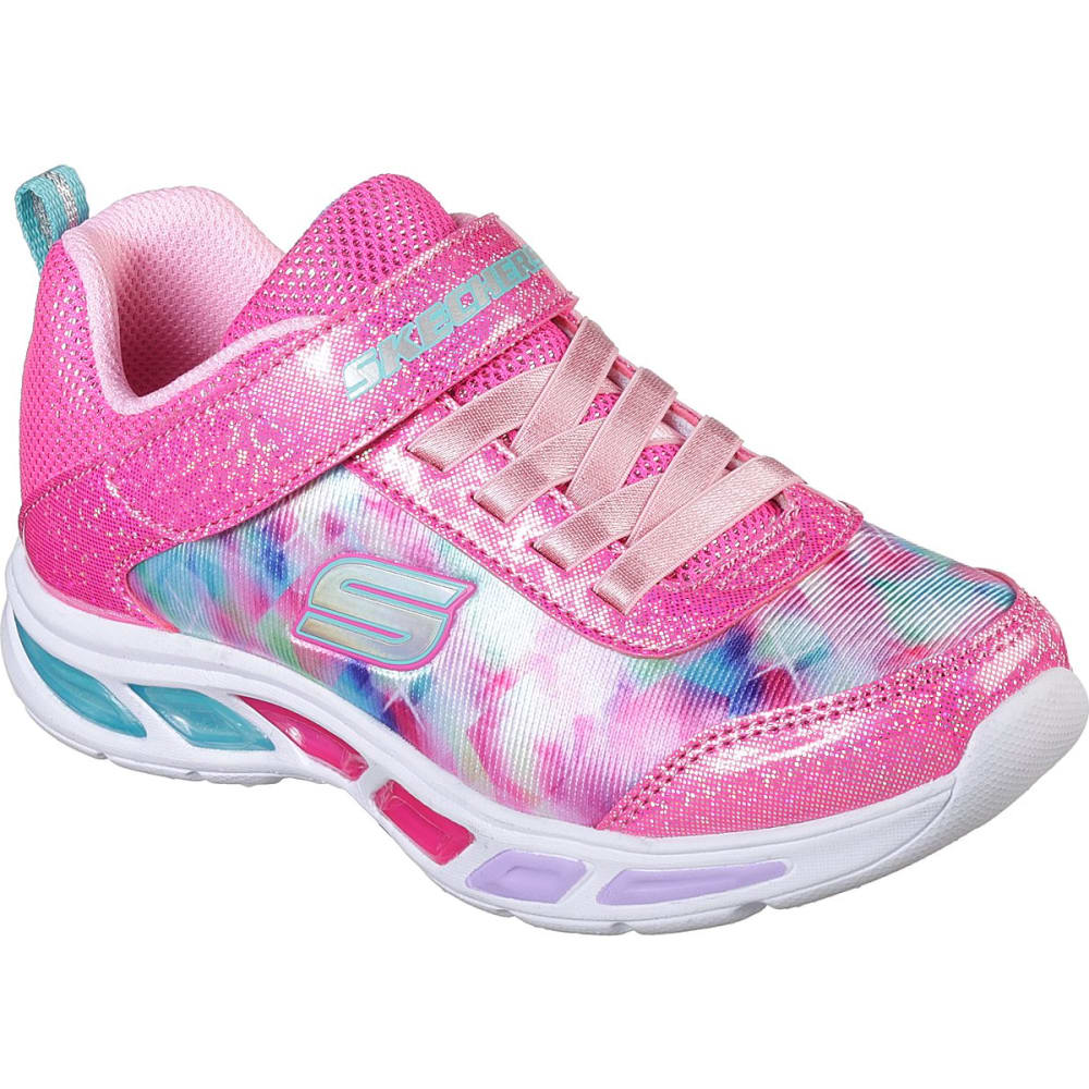 SKECHERS Toddler Girls' S Lights: Litebeams - Dance N Glow Sneakers - DK PINK-NPMT