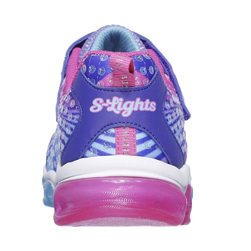 SKECHERS Little Girls' S Lights: Jelly Beams Sneakers - PURPLE-PRMT