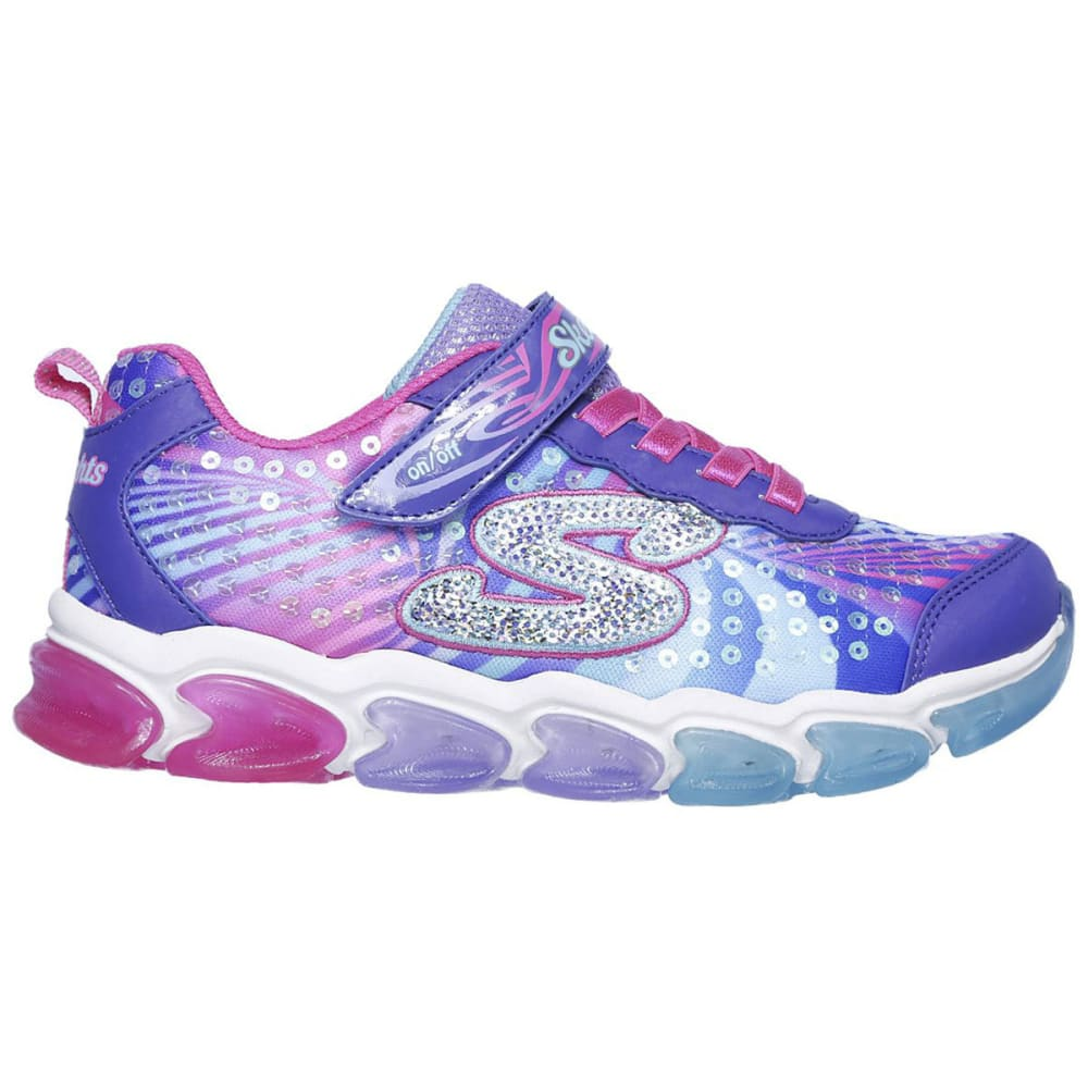 SKECHERS Little Girls' S Lights: Jelly Beams Sneakers - PURPLE-PRMT