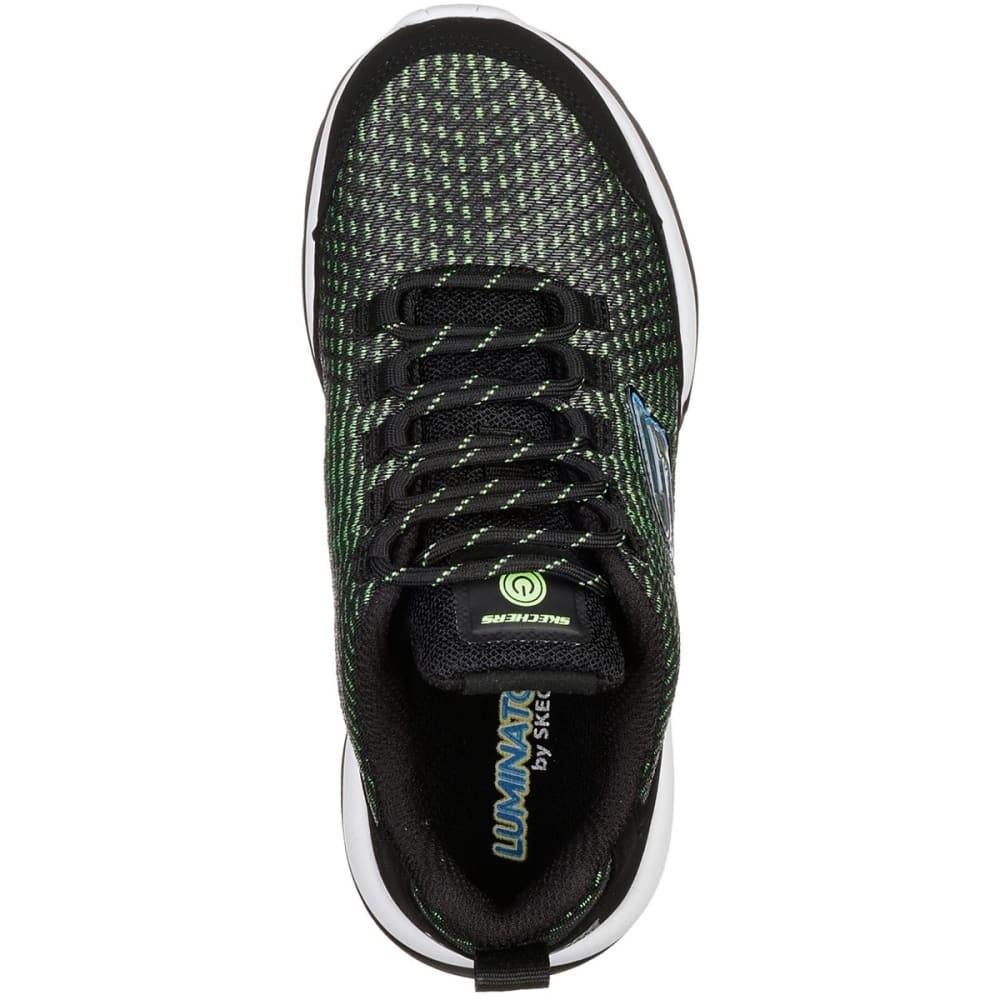 SKECHERS Boys' S Lights: Luminators Sneakers - BLACK-BKLM