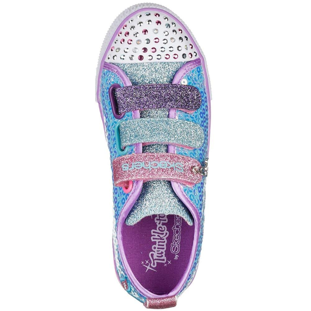 SKECHERS Little Girls' Twinkle Toes: Twinkle Lite - Mermaid Magic Sneakers - TURQ-TQMT