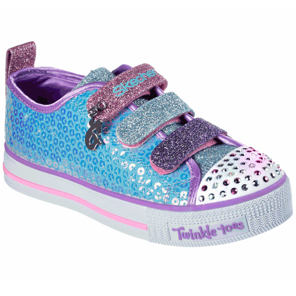 SKECHERS Little Girls' Twinkle Toes: Twinkle Lite - Mermaid Magic Sneakers - TURQ-TQMT