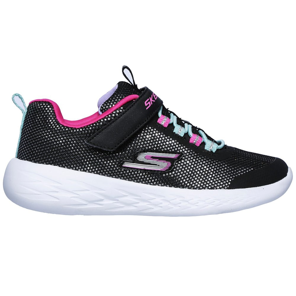 SKECHERS Little Girls' GoRUN 600 - Sparkle Runner Sneakers - BLACK-BKMT