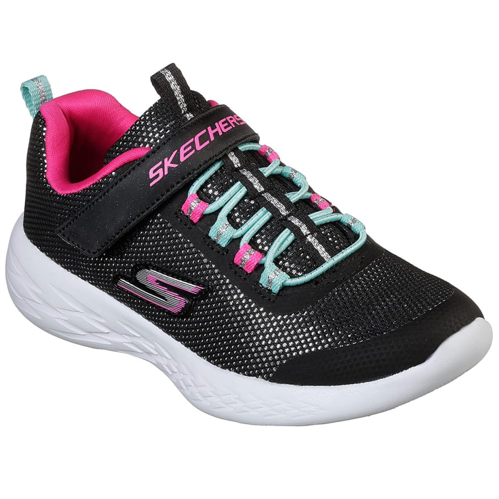 Skechers Little Girls' Gorun 600 - Sparkle Runner Sneakers - Black, 1