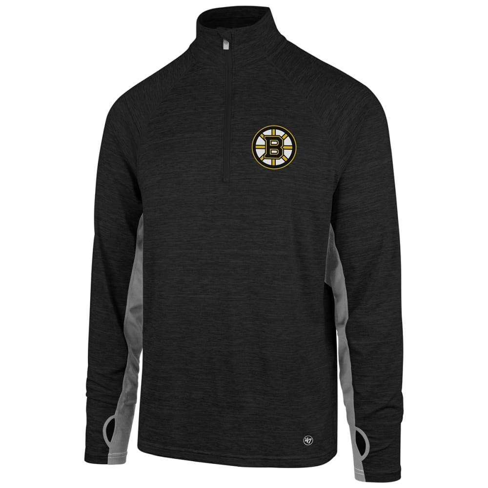 BOSTON BRUINS Men's Omni 1/4 Zip Pullover - BLACK