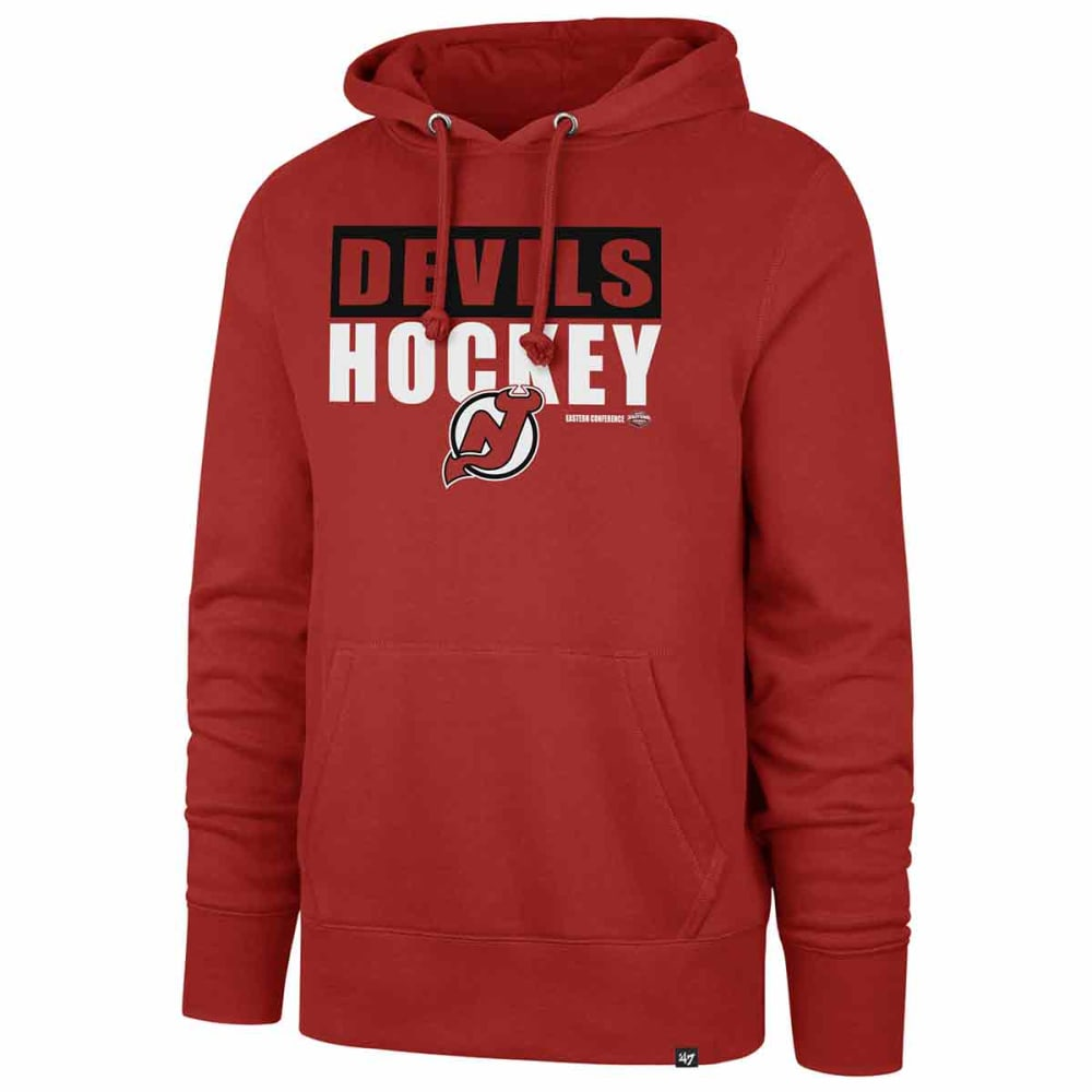 NEW JERSEY DEVILS Men's Blockout '47 Headline Pullover Hoodie - RED