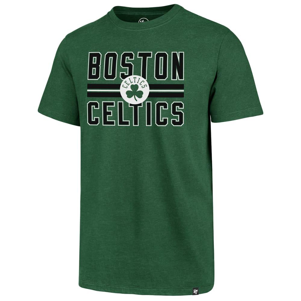 BOSTON CELTICS Men's Block Stripe '47 Match Short-Sleeve Tee - GREEN
