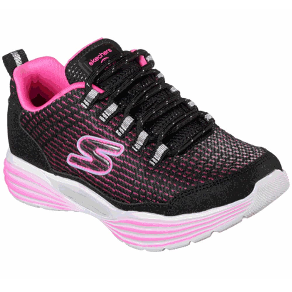 SKECHERS Little Girls' S Lights: Luminators Luxe Sneakers - BLACK/PNK-BKPK