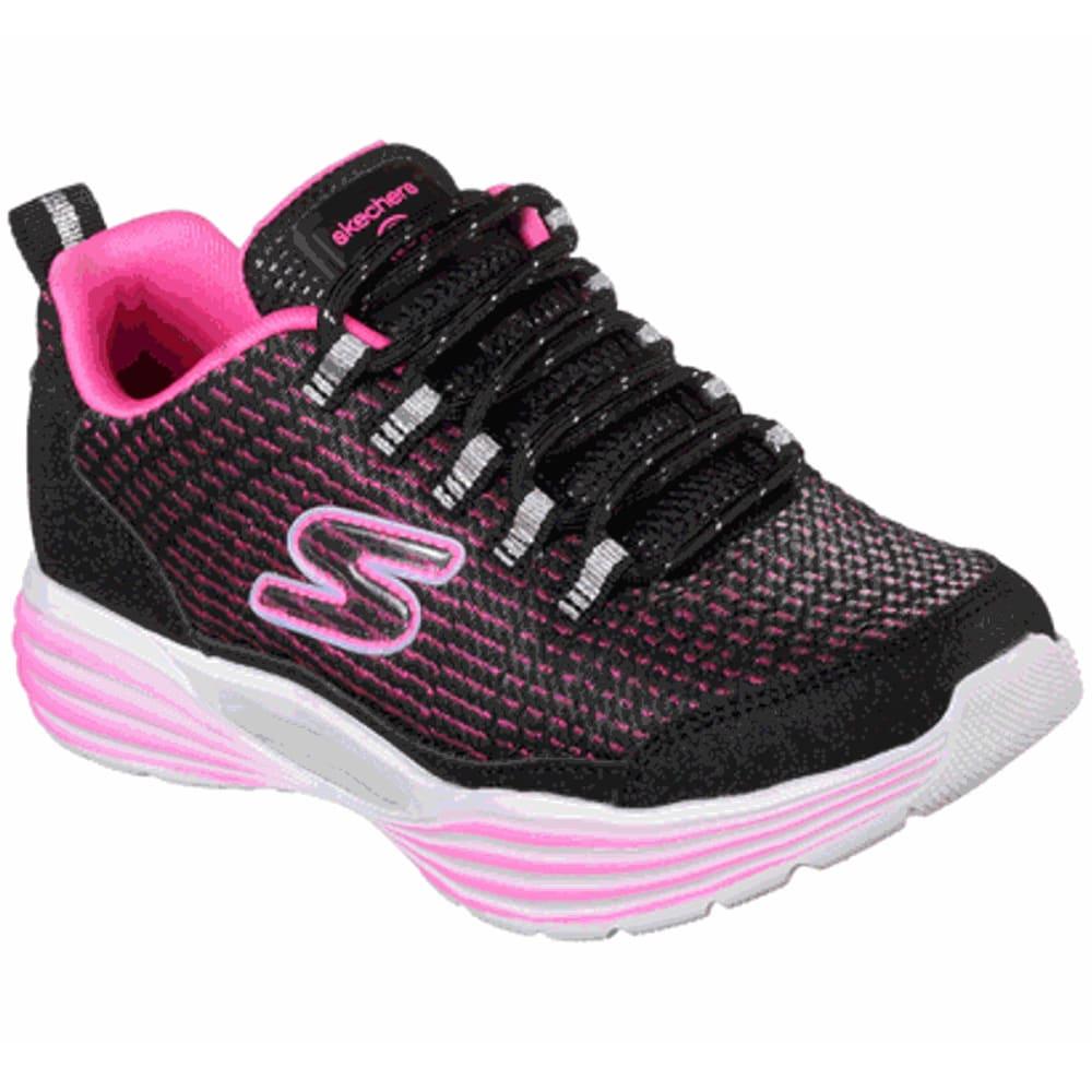 SKECHERS Little Girls' S Lights: Luminators Luxe Sneakers - BLACK/PNK-BKPK