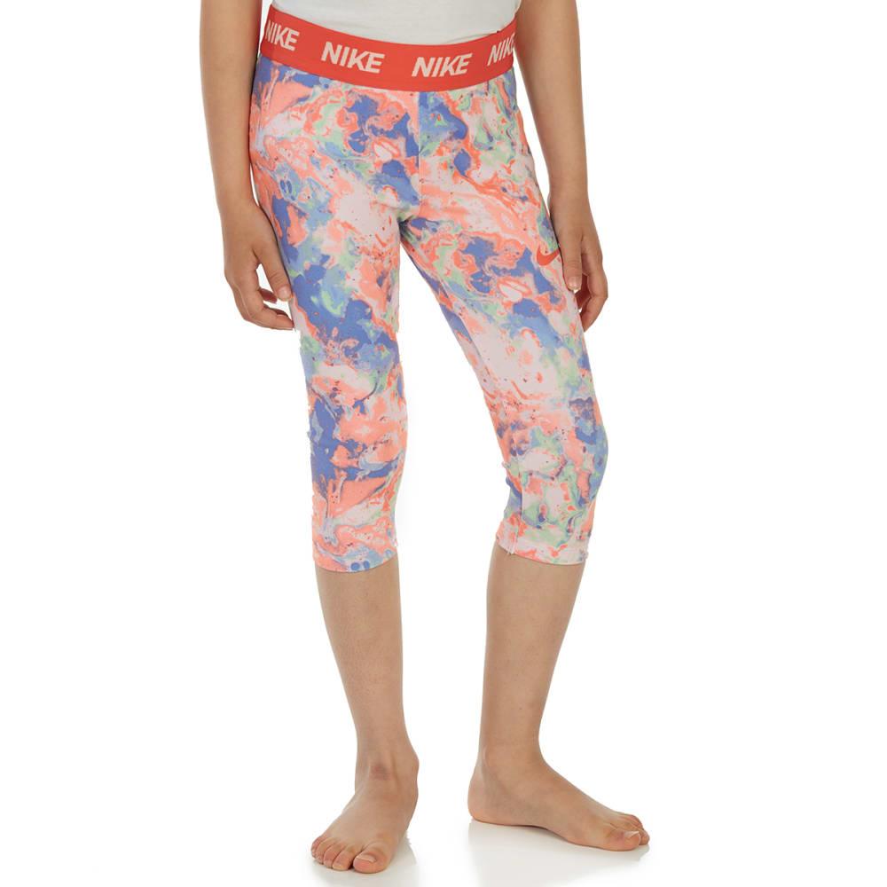 NIKE Little Girls' Sport Essentials AOP Capri Leggings - CRIMSON TINT-R5U