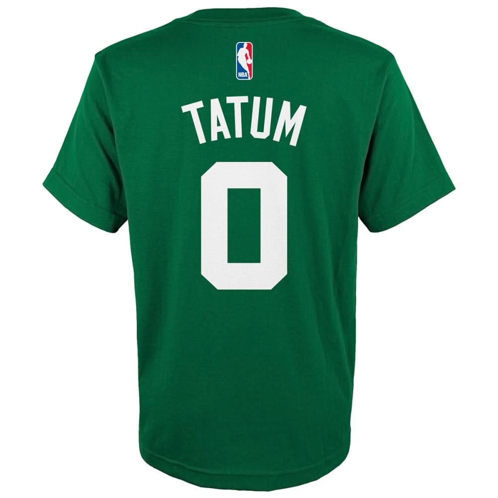 BOSTON CELTICS Big Boys' Jayson Tatum #0 Name and Number Short-Sleeve Tee - GREEN