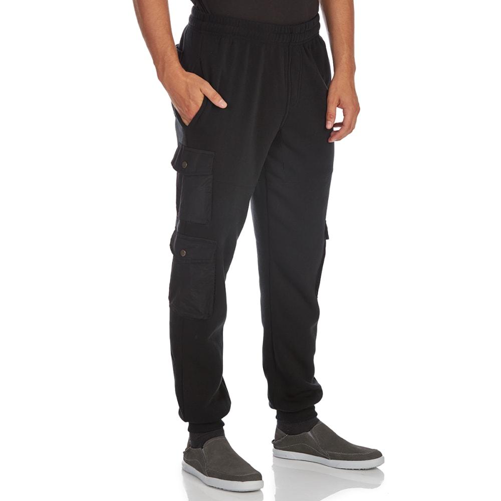 Blue Gear Guys' Fleece Joggers With Nylon Pockets
