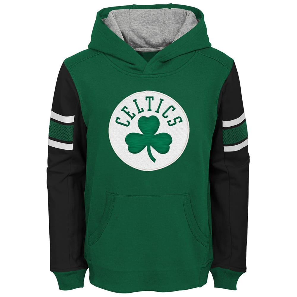 Boston Celtics Big Boys' Color-Blocked Pullover Hoodie - Green, S