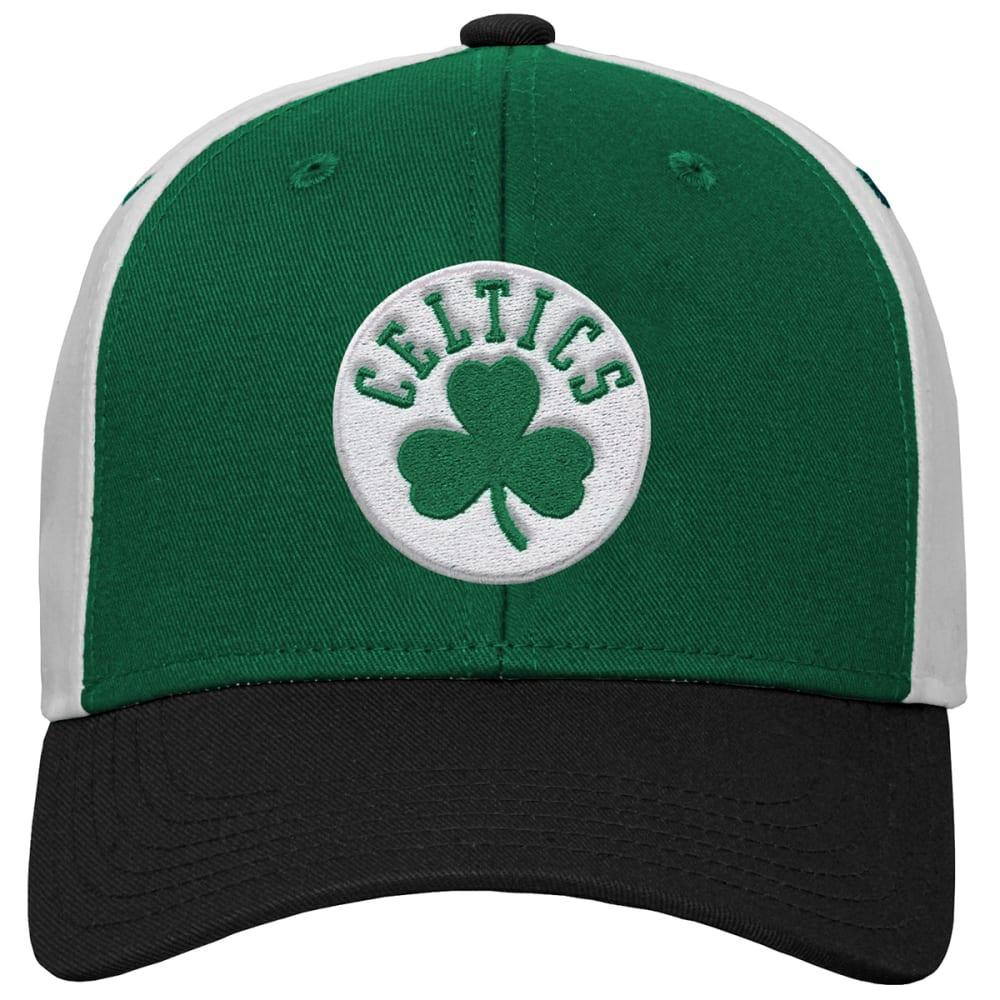 BOSTON CELTICS Boys' Color-Block Adjustable Cap - GREEN