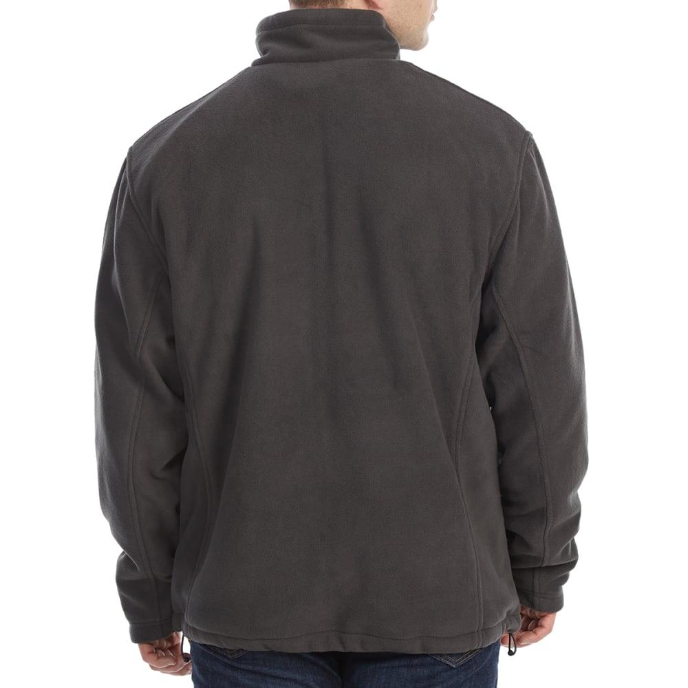 NEW BALANCE Men's Sherpa-Lined Self-Collar Polar Fleece Jacket - MAGNET