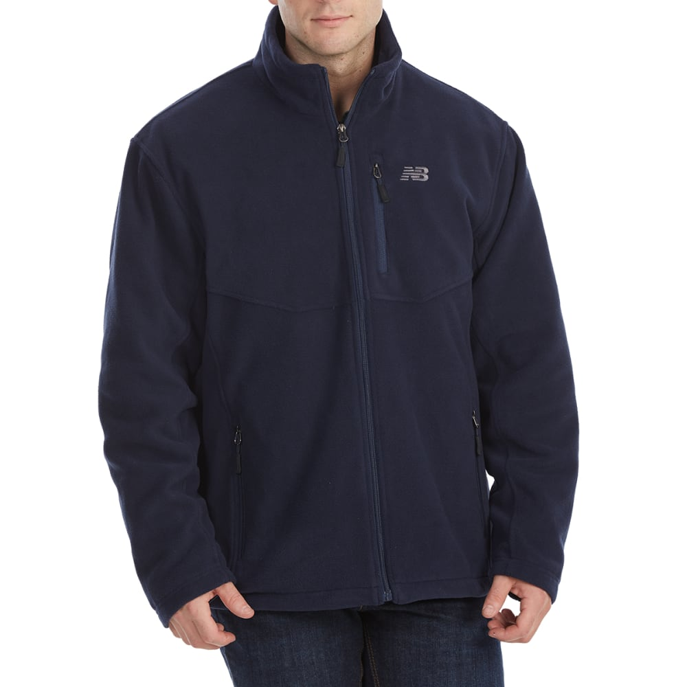 NEW BALANCE Men's Sherpa-Lined Self-Collar Polar Fleece Jacket M