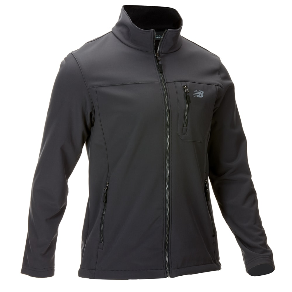 New Balance Men's Softshell Jacket With Chest Pocket - Black, M