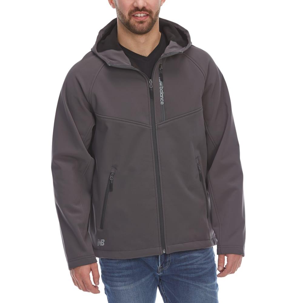 New Balance Men's Hooded Softshell Jacket With Reflective Trim - Black, M