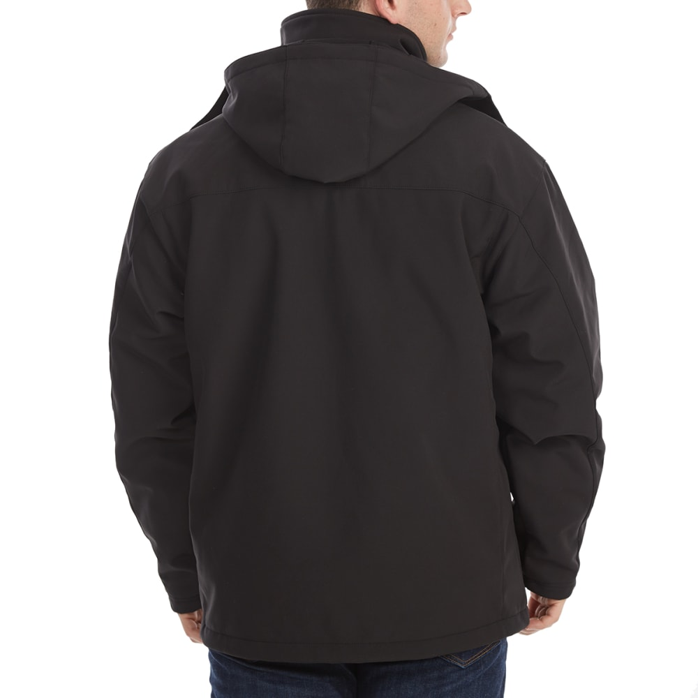 NEW BALANCE Men's Soft Shell Systems Jacket with Zip-Out Puffer - BLACK
