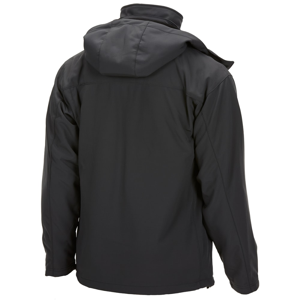 NEW BALANCE Men's Soft Shell Systems Jacket with Zip-Out Puffer - MAGNET