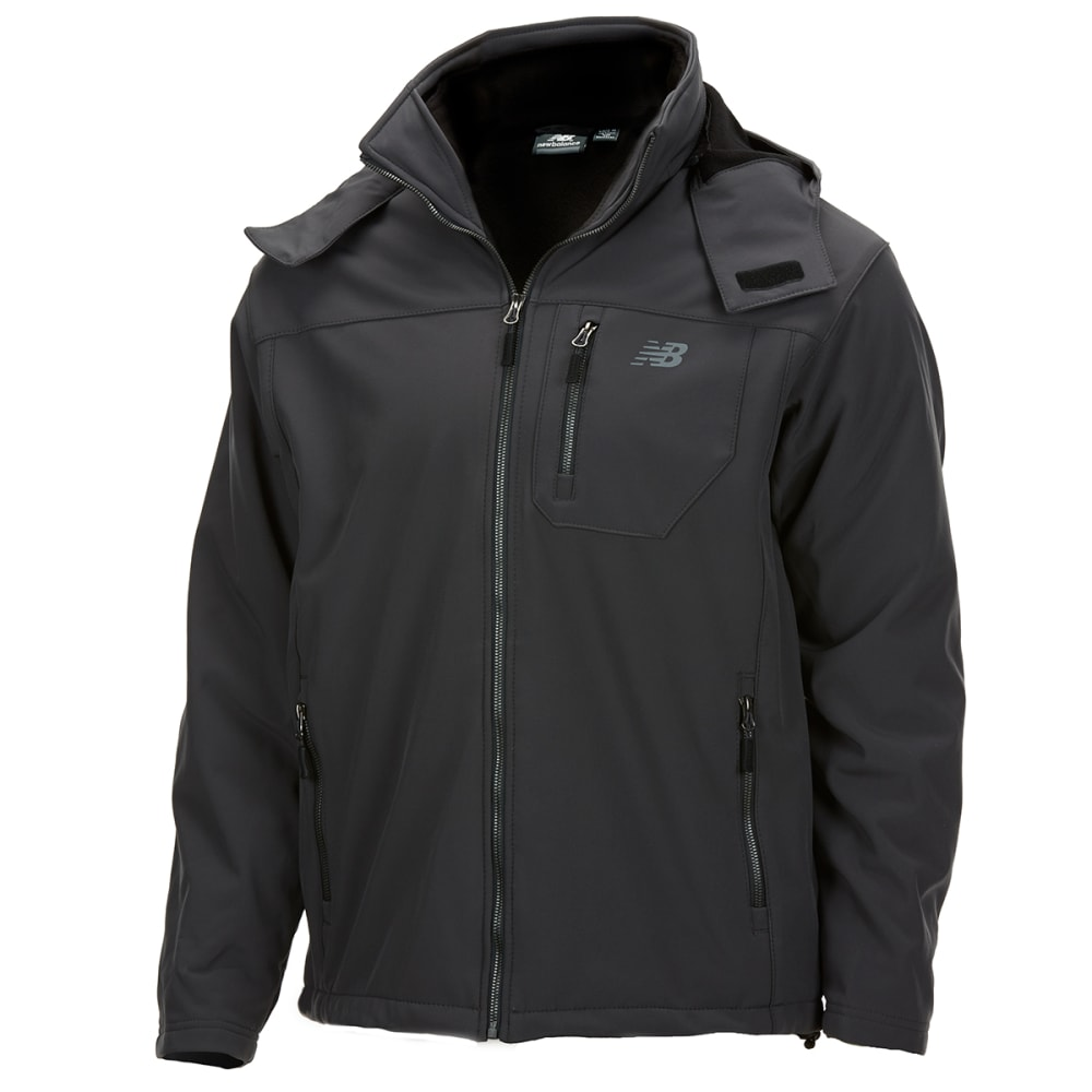 NEW BALANCE Men's Soft Shell Systems Jacket with Zip-Out Puffer M