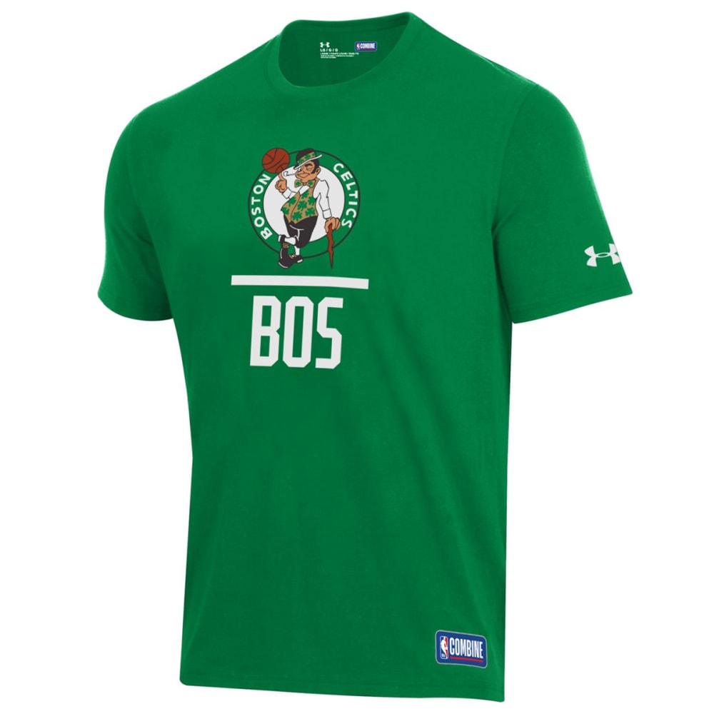 Under Armour Men's Boston Celtics Combine Lockup Short-Sleeve Tee - Green, XL