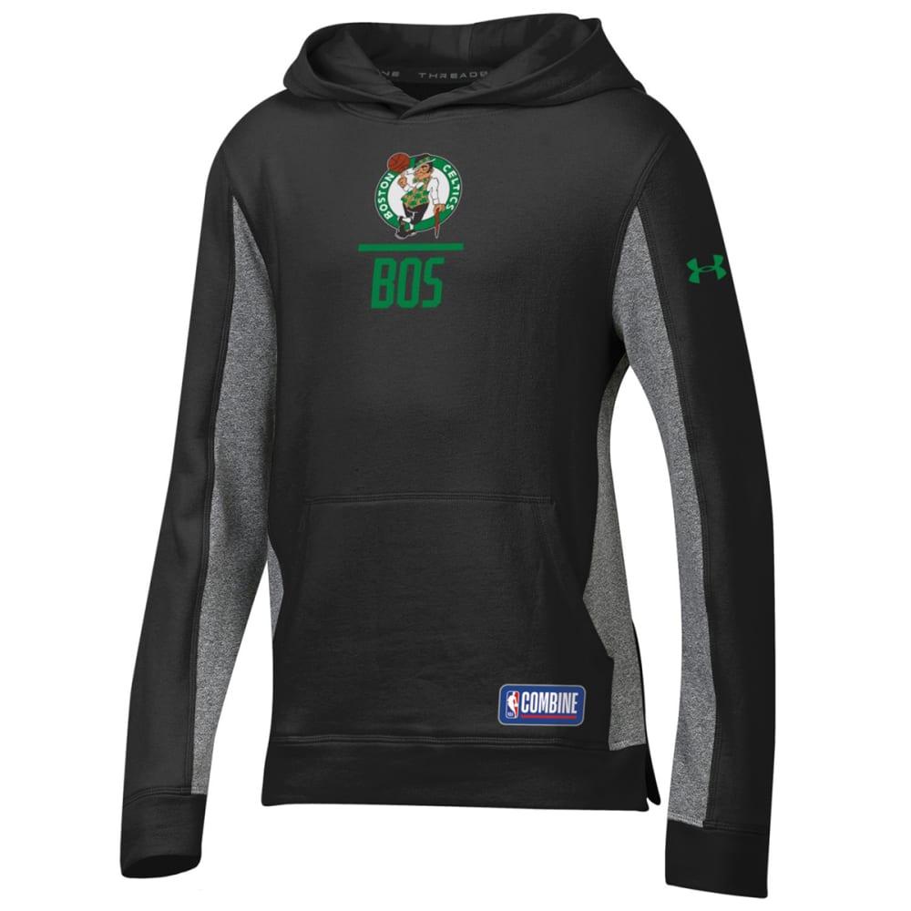 UNDER ARMOUR Big Boys' Boston Celtics Combine Authentic UA Lockup Pullover Hoodie - BLACK