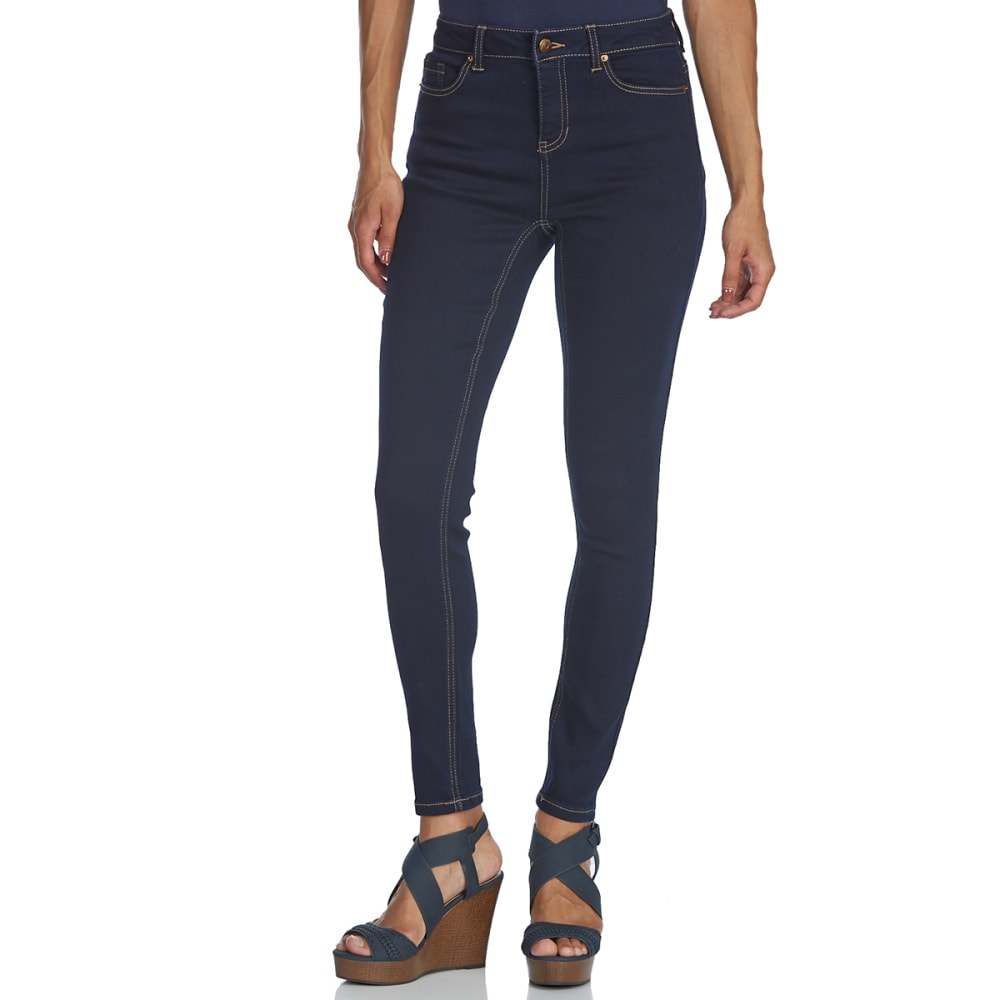 BLUE SPICE Juniors' Super High Rise Skinny Jeans - RINSE