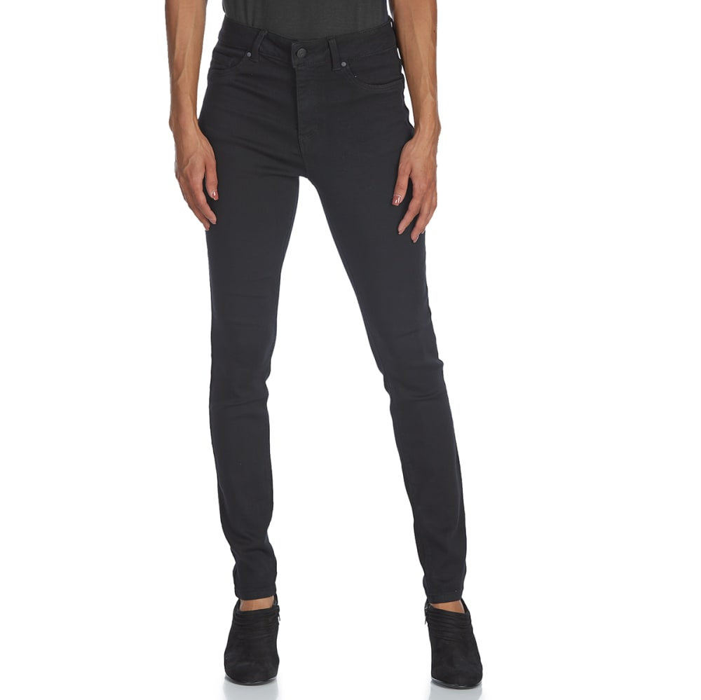 D JEANS Women's High-Rise Skinny Jeans - SS BLACK