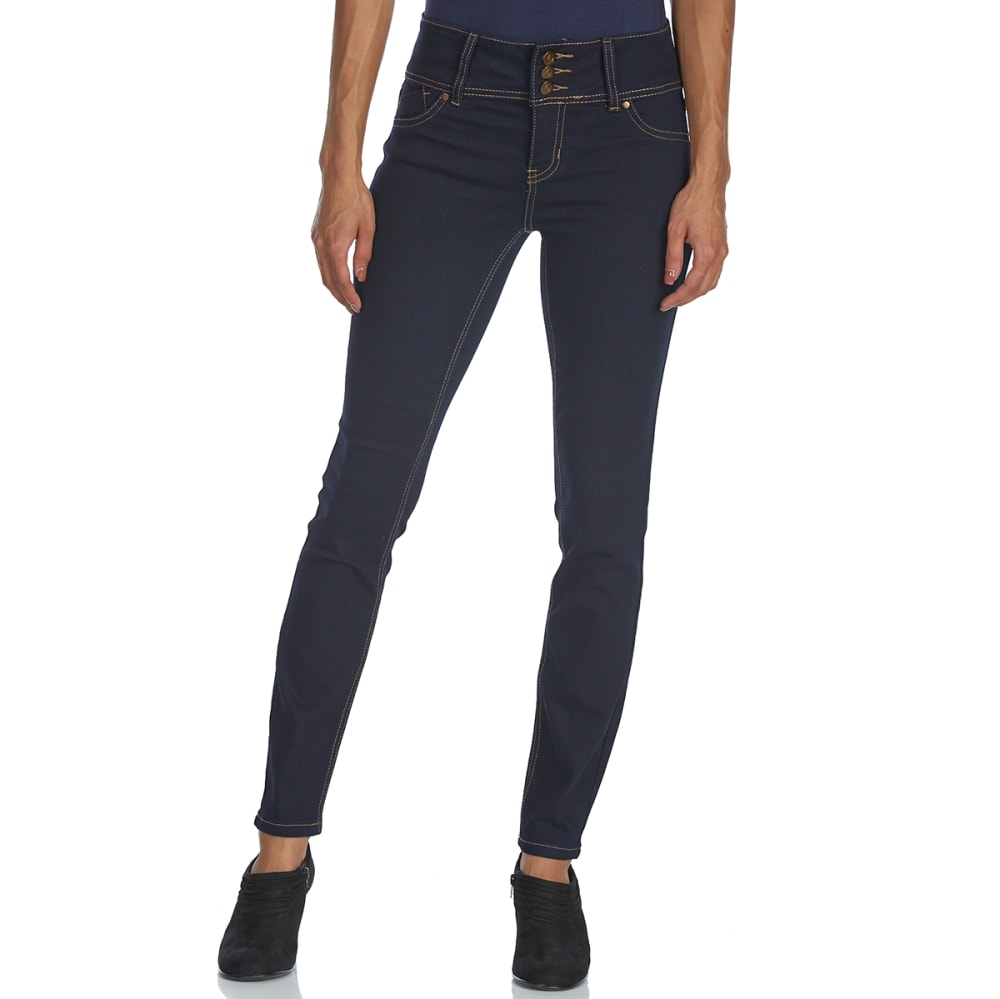 D JEANS Women's 3-Button High-Rise Skinny Jeans - SD RINSE