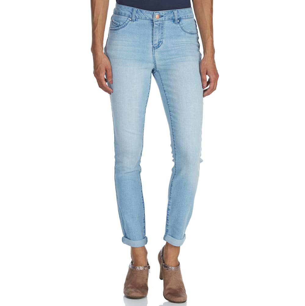 D JEANS Women's High-Rise Roll Cuff Ankle Jeans - LIGHT ELISE