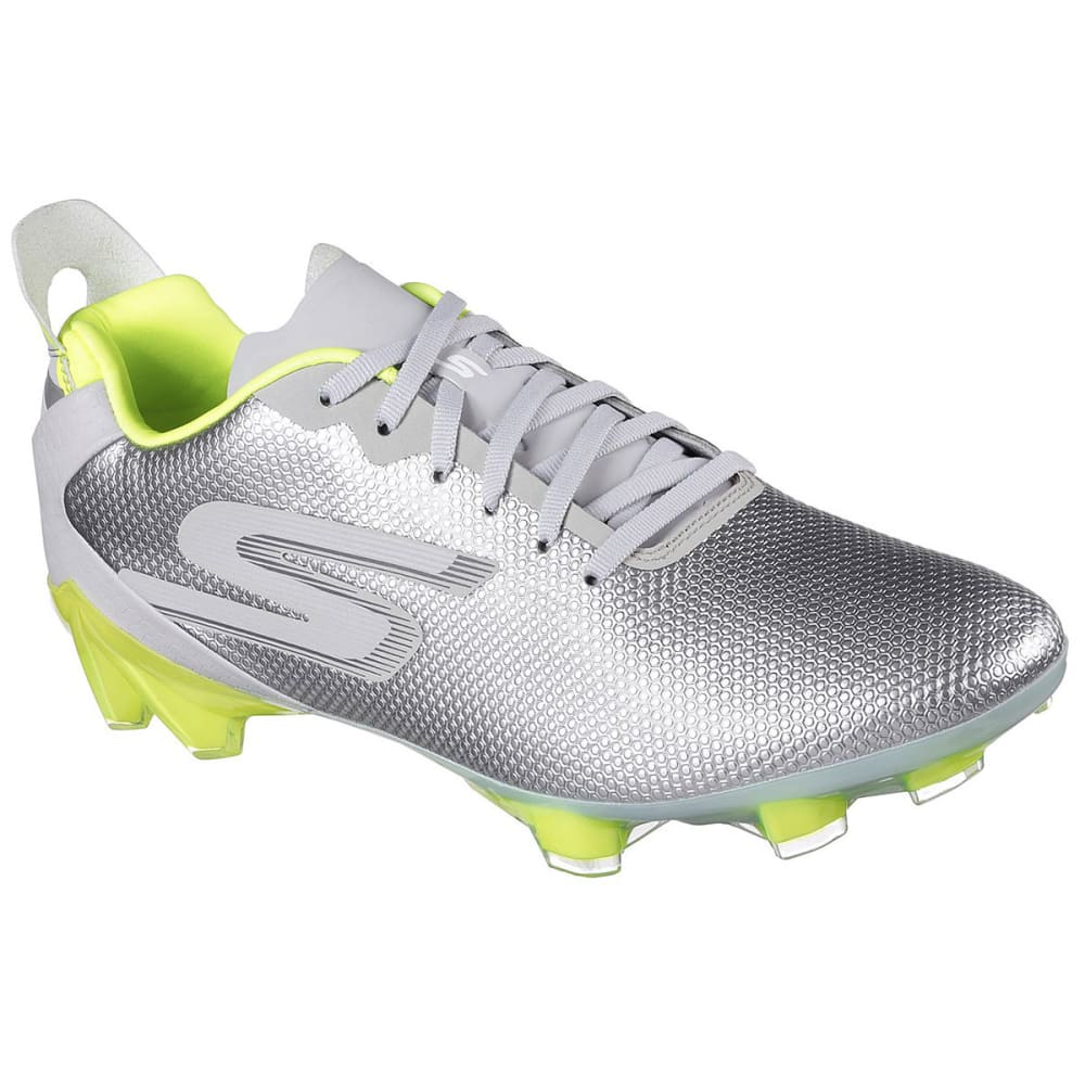 SKECHERS Men's Galaxy Soccer Cleats - GREY/LIME-GYLM