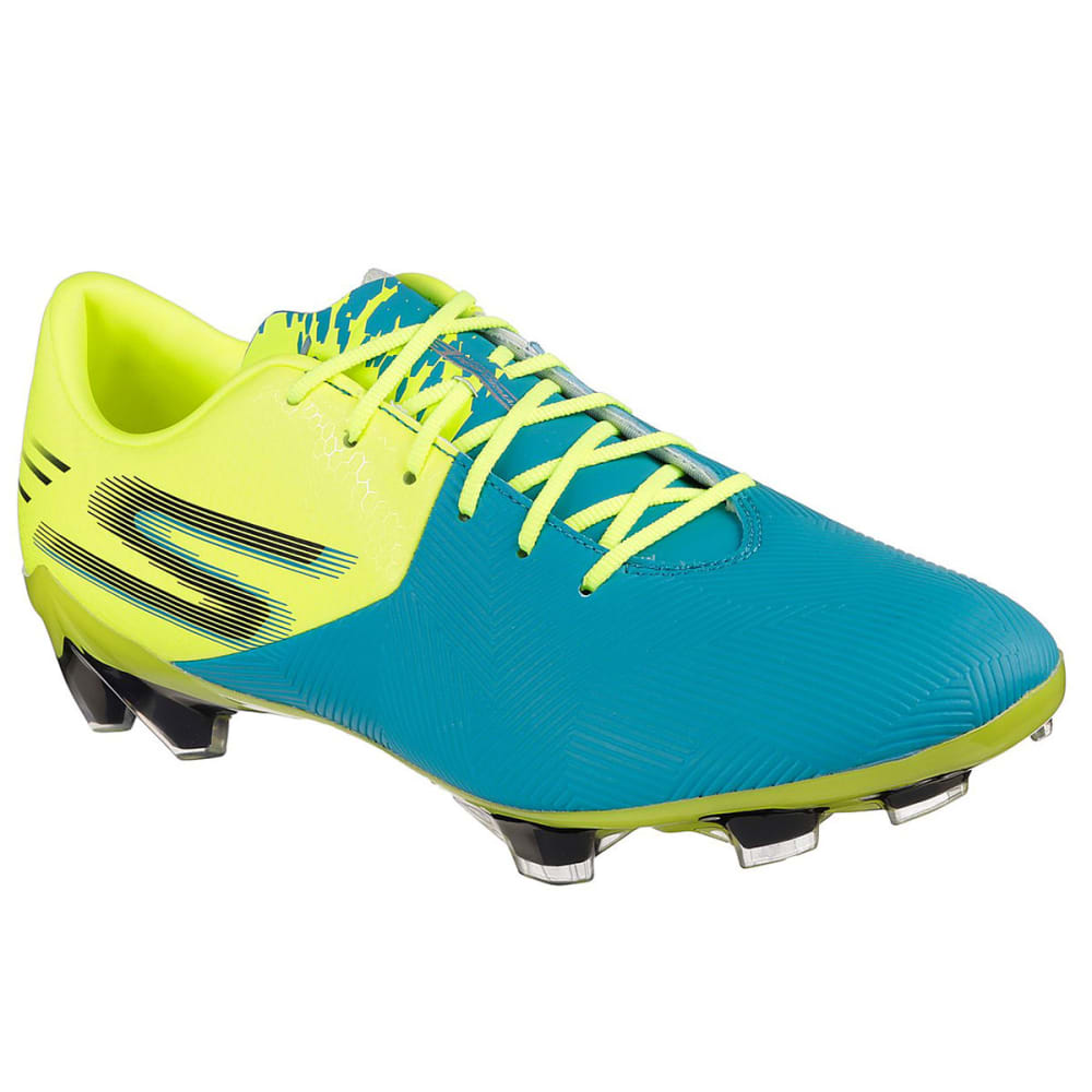 SKECHERS Men's Reflex Soccer Cleat - TURQ/LIME-TQLM