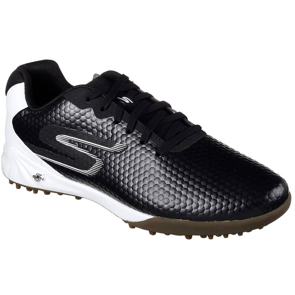 SKECHERS Men's Hexgo Turf Soccer Shoe - BLK/WHT-BKW