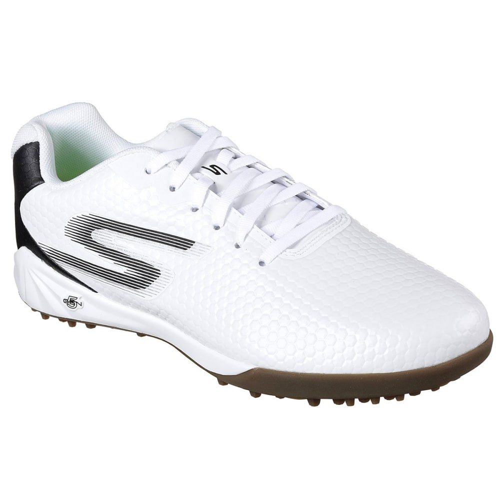 Skechers Men's Hexgo Turf Soccer Shoe - White, 13