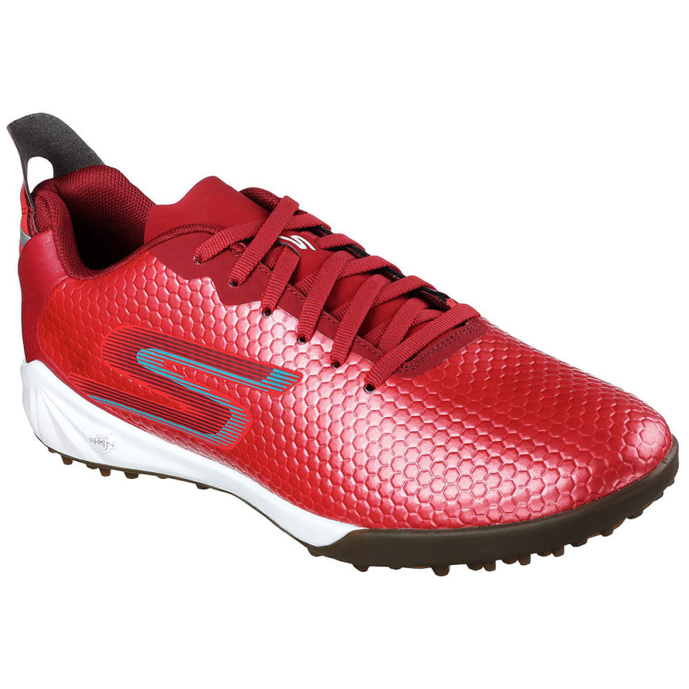 Skechers Men's Hexgo Turf Soccer Shoe - Red, 11.5