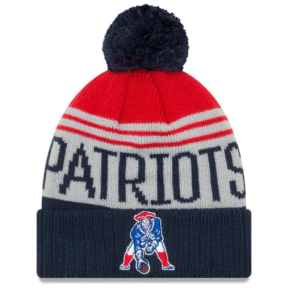 NEW ENGLAND PATRIOTS Team Pride Pat Patriot Cuff Pom Knit Beanie - NAVY