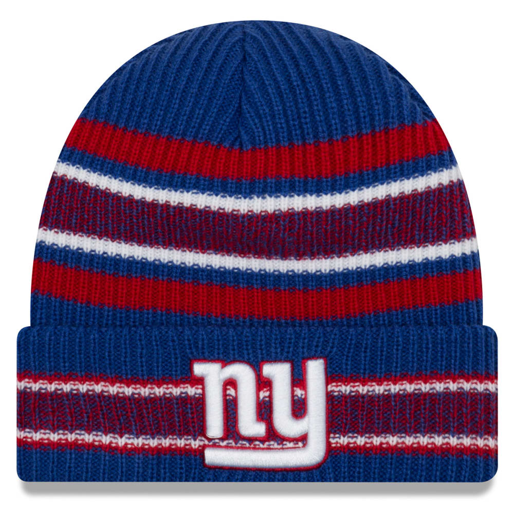 NEW YORK GIANTS Vintage Stripe Cuff Knit Beanie - ROYAL BLUE