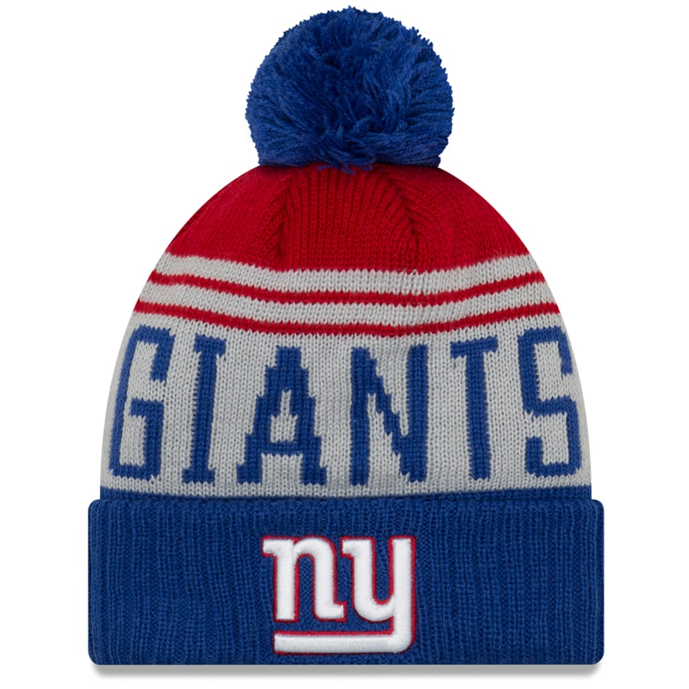 NEW YORK GIANTS Team Pride Cuff Pom Knit Beanie - ROYAL BLUE