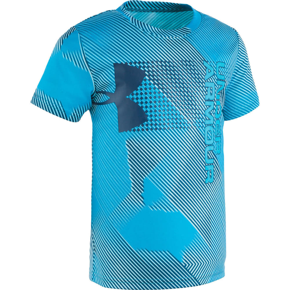 Under Armour Little Boys' Sequence Hybrid Big Logo Short-Sleeve Tee - Blue, 5